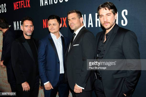 Francisco Denis Arturo Castro Pepe Rapazote and Alberto Amann attend 'Narcos' Season 3 New York Screening Arrivals at AMC Lincoln Square 13 Theater...