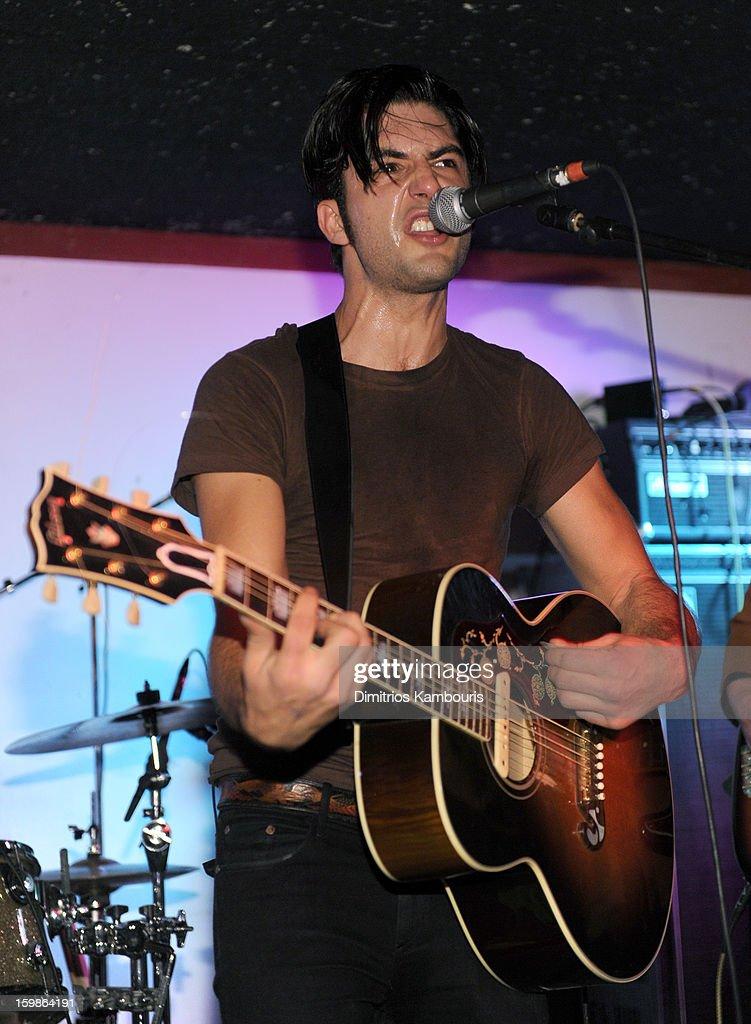 Francisco Fernandez of the Ferocious Few performs at Cisero's Bar on January 21, 2013 in Park City, Utah.