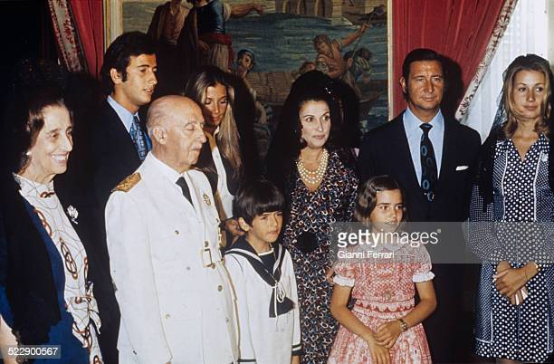 Francisco Franco in the First Communion of his grandson Jaime Carmen Polo Francis Franco Francisco Franco Mariola Martinez Bordiu Jaime Martinez...