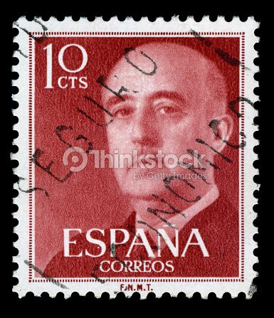Francisco Franco Postage Stamp Spain Stock Photo