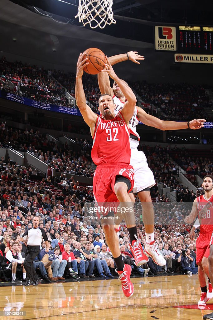 <a gi-track='captionPersonalityLinkClicked' href=/galleries/search?phrase=Francisco+Garcia&family=editorial&specificpeople=198958 ng-click='$event.stopPropagation()'>Francisco Garcia</a> #32 of the Houston Rockets drives to the basket against the Portland Trail Blazers on November 5, 2013 at the Moda Center Arena in Portland, Oregon.