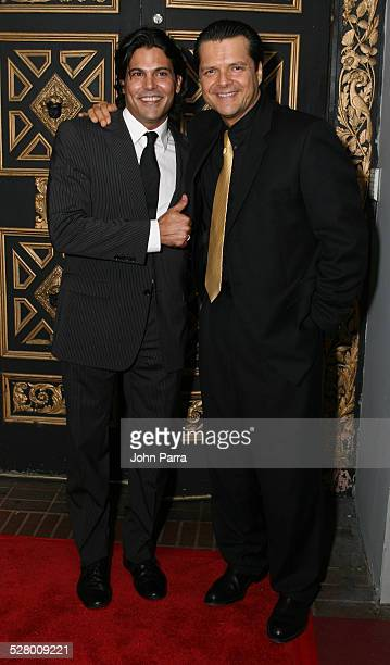 Francisco Gattorno and Ariel Lopez Padilla during Telemundo Celebrates New Production Tierra de Pasiones at The Forge in Miami Beach Florida United...