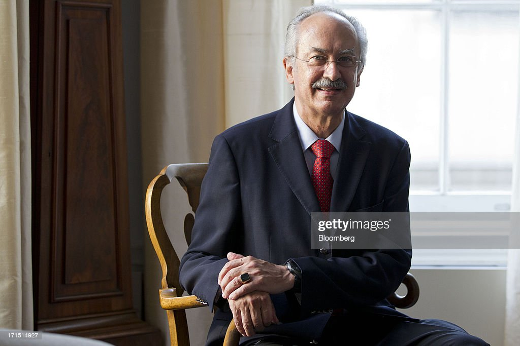 Francisco Gil Diaz, Telefonica SA's president for Mexico and Central America, poses for a photograph in New York, U.S., on Tuesday, June 25, 2013. Telefonica yesterday agreed to sell its mobile-phone business in Ireland to Hutchison Whampoa Ltd. to create a stronger No. 2 carrier to take on leader Vodafone Group Plc. Photographer: Jin Lee/Bloomberg via Getty Images