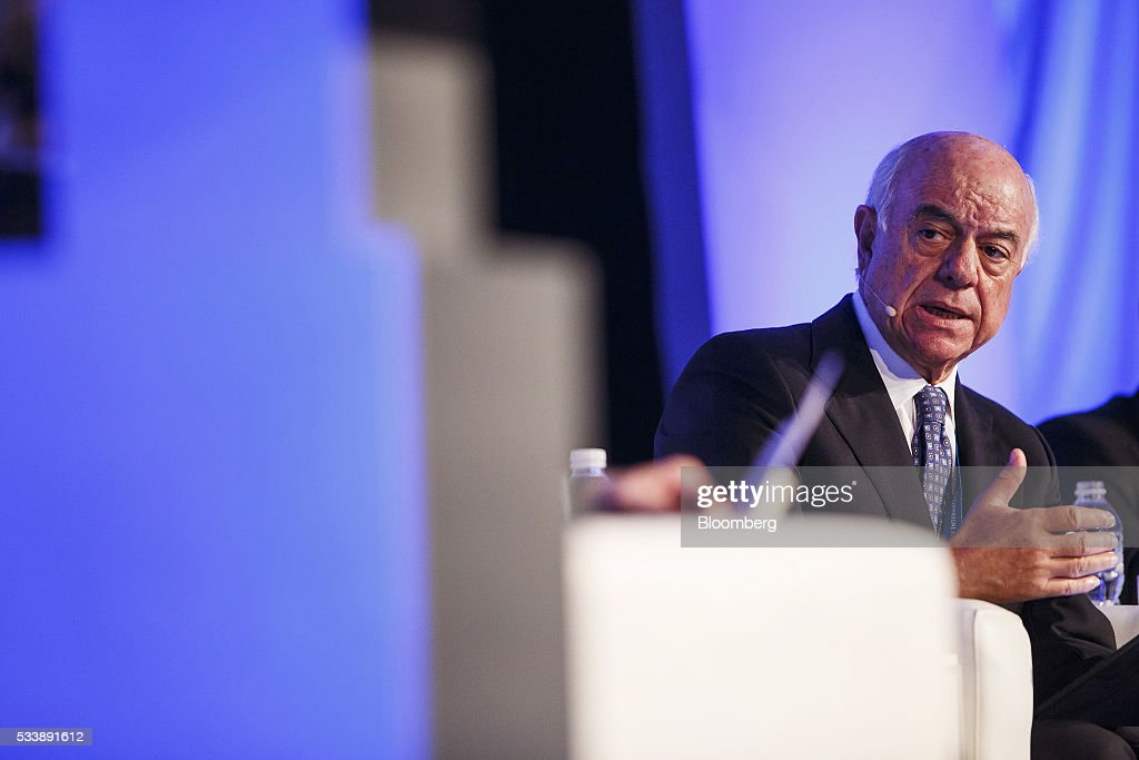 Francisco Gonzalez, chairman of Banco Bilbao Vizcaya Argentaria SA, speaks during a panel session at the Institute of International Finance's Spring meeting in Madrid, Spain, on Tuesday, May 24, 2016. Attendees are hearing from experts from across the industry on the global and regional economic outlook, the global regulatory agenda, and the political landscape in Europe and the U.S. Photographer: Angel Navarrete/Bloomberg via Getty Images