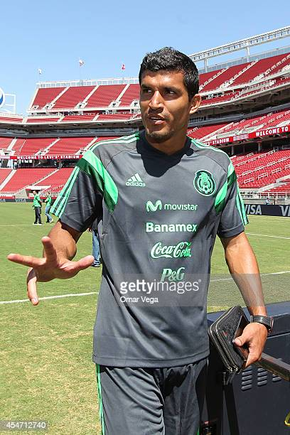 Francisco Javier Rodriguez of Mexico during Mexico's National Team training session at Levi's Stadium September 05 2014 in Santa Clara United States