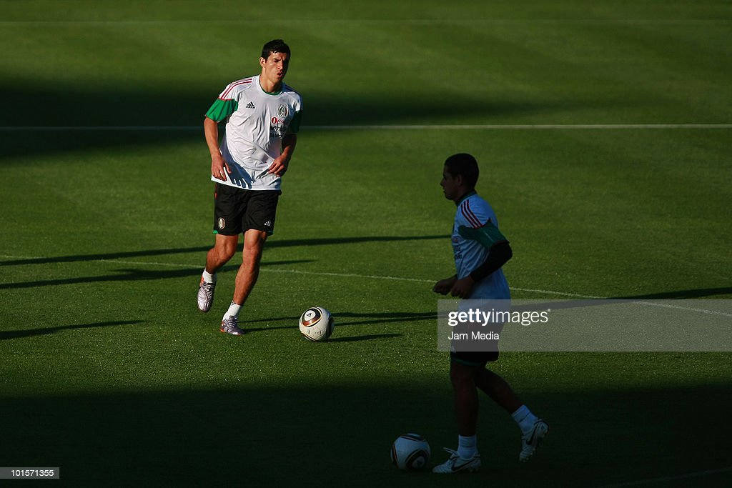 Francisco Javier Rodriguez, player of Mexico, during a training session at the King Baudouin Stadium on June 2, 2010 in Brussels, Belgium. Mexico will face Italy on thursday 3 as part of their preparation for the 2010 FIFA World Cup South Africa.
