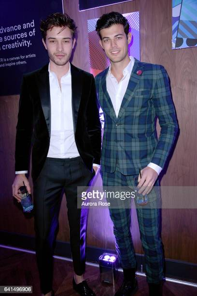 Francisco Lachowski and Felix Bujo attend The Daily Front Row x LIFEWTR NFYW Opening Night at Kola House on February 9 2017 in New York City