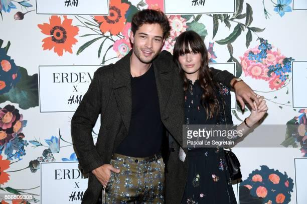 Francisco Lachowski and Jessieann Lachowski attend ERDEM X HM Paris Collection Launch at Hotel du Duc on October 26 2017 in Paris France