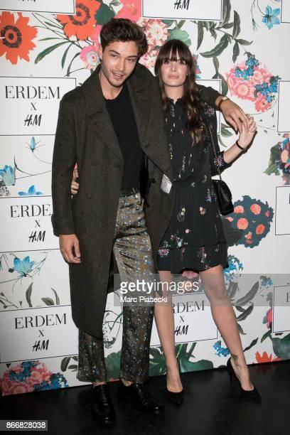 Francisco Lachowski and Jessieann Lachowski attend the 'ERDEM X HM' Paris Collection Launch at Hotel du Duc on October 26 2017 in Paris France
