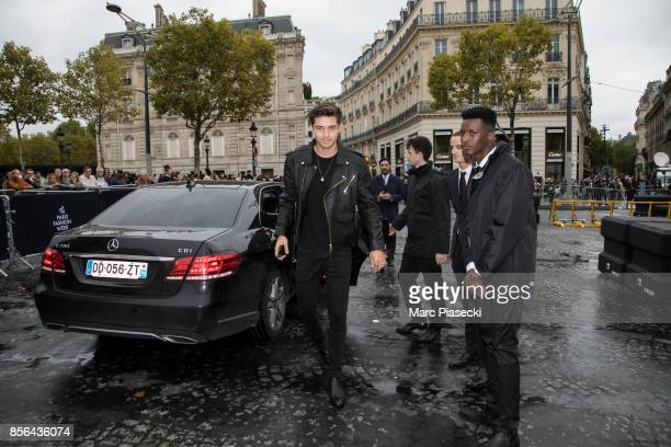 Francisco Lachowski attends Le Defile L'Oreal Paris as part of Paris Fashion Week Womenswear Spring/Summer 2018 at Avenue Des Champs Elysees on...