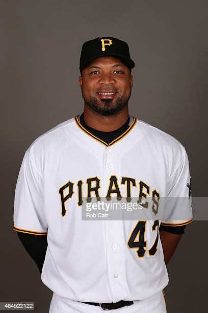 Francisco Liriano of the Pittsburgh Pirates poses for a portrait on photo day on February 26 2015 at Pirate City in Bradenton Florida