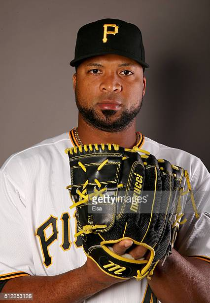 Francisco Liriano of the Pittsburgh Pirates poses for a portrait on February 25 2016 at Pirate City in Bradenton Florida