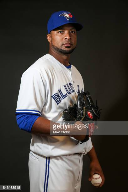 Francisco Liriano of the Toronto Blue Jays poses for a portait during a MLB photo day at Florida Auto Exchange Stadium on February 21 2017 in Dunedin...