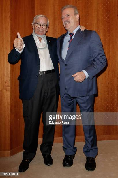 Francisco Luzon and Manuel Campo Vidal attend the 'Periodismo Cientifico Concha Garcia Campoy' awards at Mapfre Foundation on July 6 2017 in Madrid...