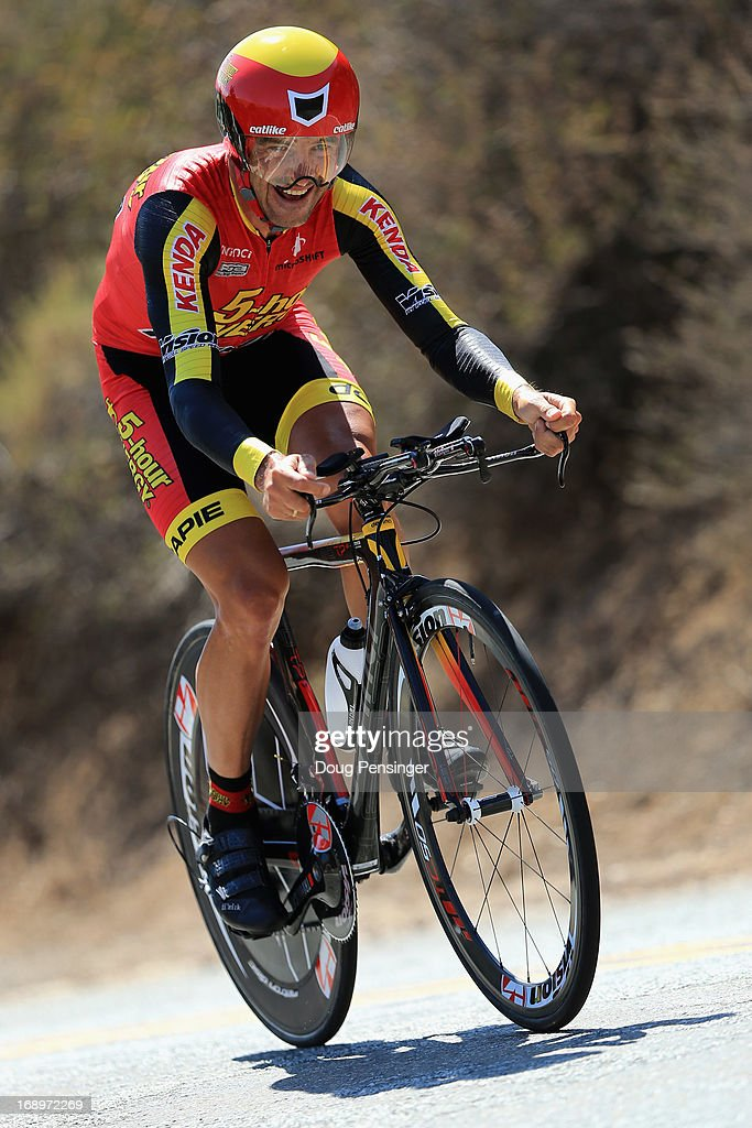 Francisco Mancebo of Spain riding for 5 Hour Engery races to 16th place in the Individual Time Trial during Stage Six of the 2013 Amgen Tour of California on May 17, 2013 in San Jose, California.