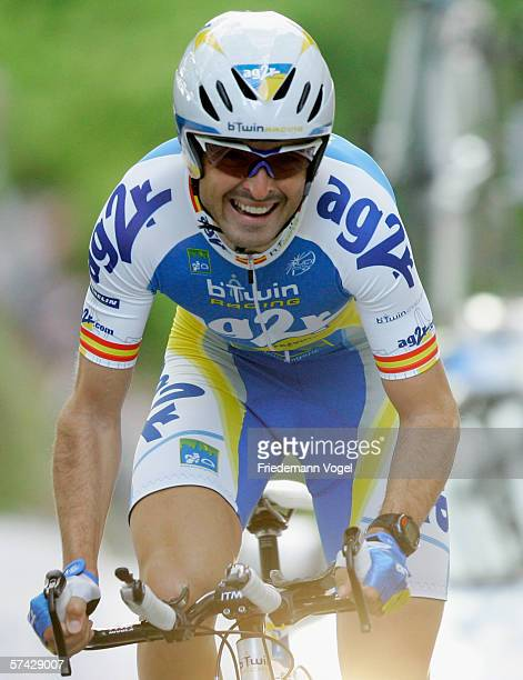 Francisco Mancebo Perez of Spain from the Ag2r Team in action during the first stage time trial of the 2006 edition of the Tour de Romandie on April...