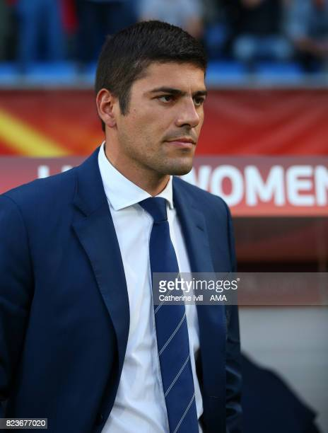 Francisco Neto manager / head coach of Portugal Women during the UEFA Women's Euro 2017 match between Portugal and England at Koning Willem II...