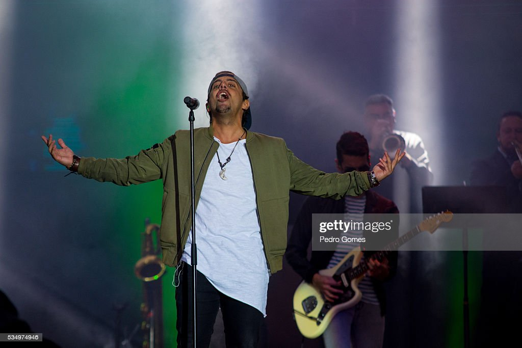Francisco Pereira of D.A.M.A performs on Mundo stage at Rock in Rio on May 28, 2016 in Lisbon, Portugal.