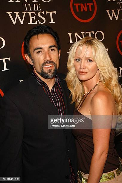 Francisco Quinn and Julie Quinn attend INTO THE WEST Premiere at Directors Guild Theater on June 8 2005