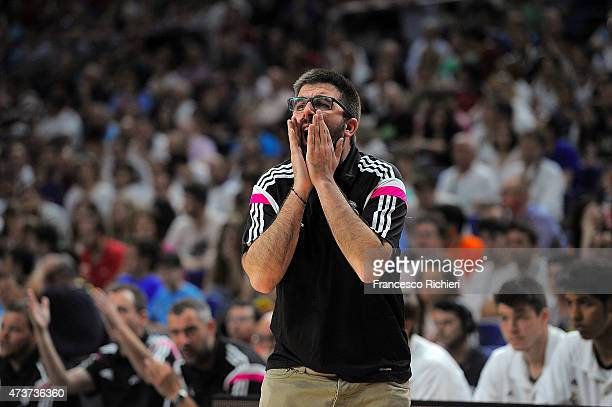 Francisco Redondo Head Coach of Real Madrid during the Adidas Next Generation Tournament Final Game between Real Madrid vs Crvena Zvezda at...