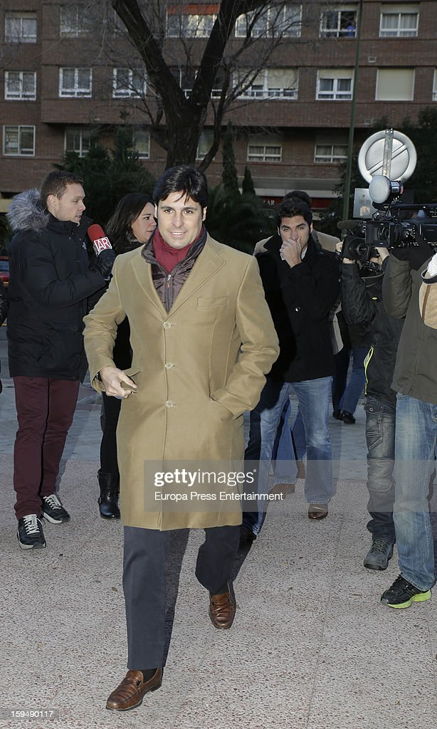 Francisco Rivera and Cayetano Rivera attend court on January 14, 2013 in Madrid, Spain. The bullfighter Francisco Rivera and ex wife Duchess of Montoro Eugenia Martinez de Irujo are fighting for the custody of their daughter.