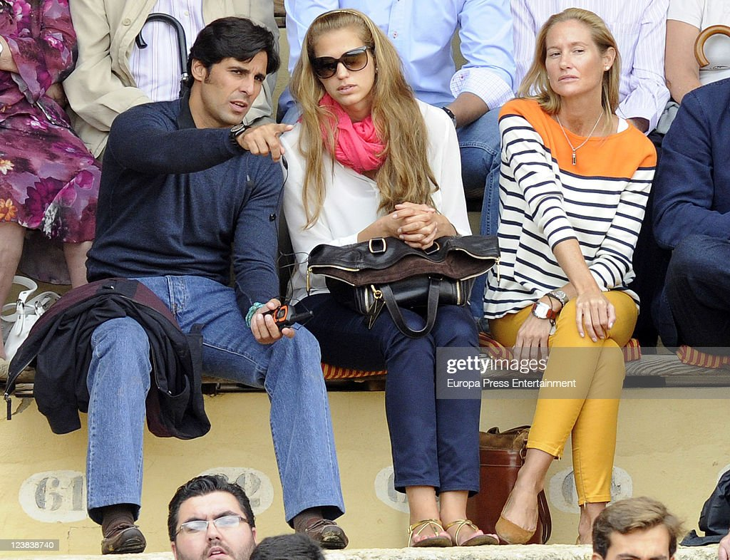 Francisco Rivera and Fiona Ferrer attend a bullfighting in Ronda the day before 'Goyesca' Bullfight on September 2 2011 in Ronda Spain