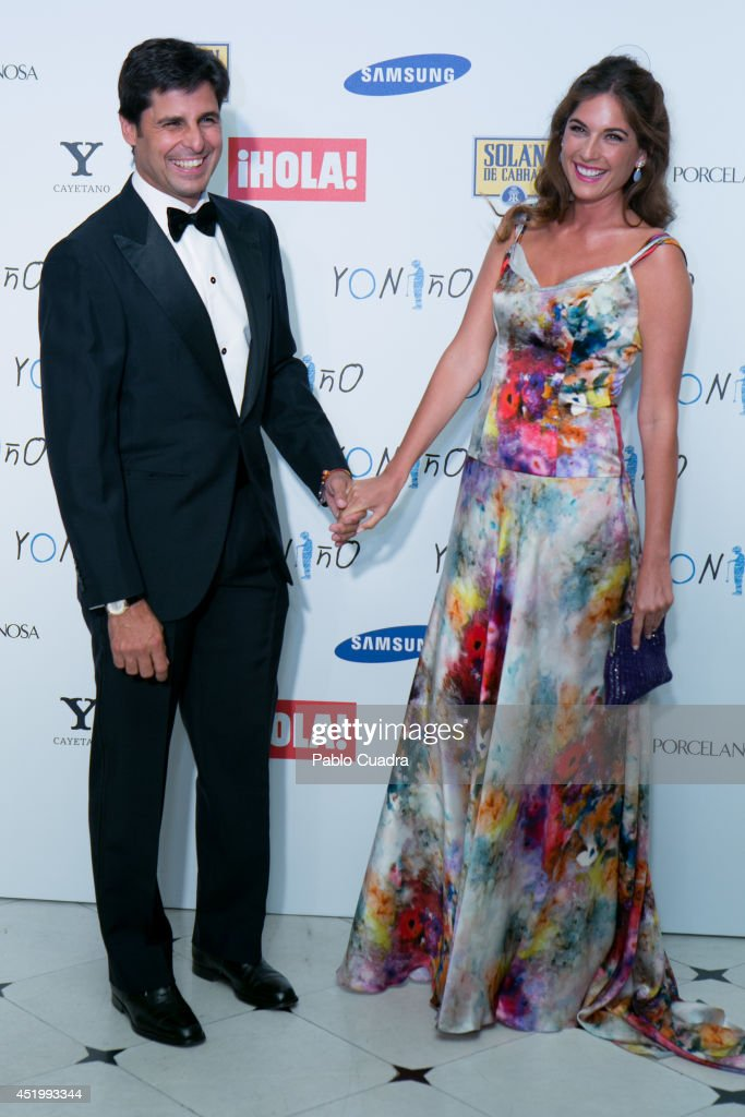 Francisco Rivera and his wife Lourdes Montes attend Yo Nino Foundation benefit dinner on July 10 2014 in Madrid Spain