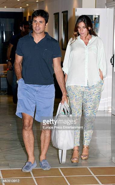 Francisco Rivera and Lourdes Montes are seen on July 12 2015 in Estepona Spain