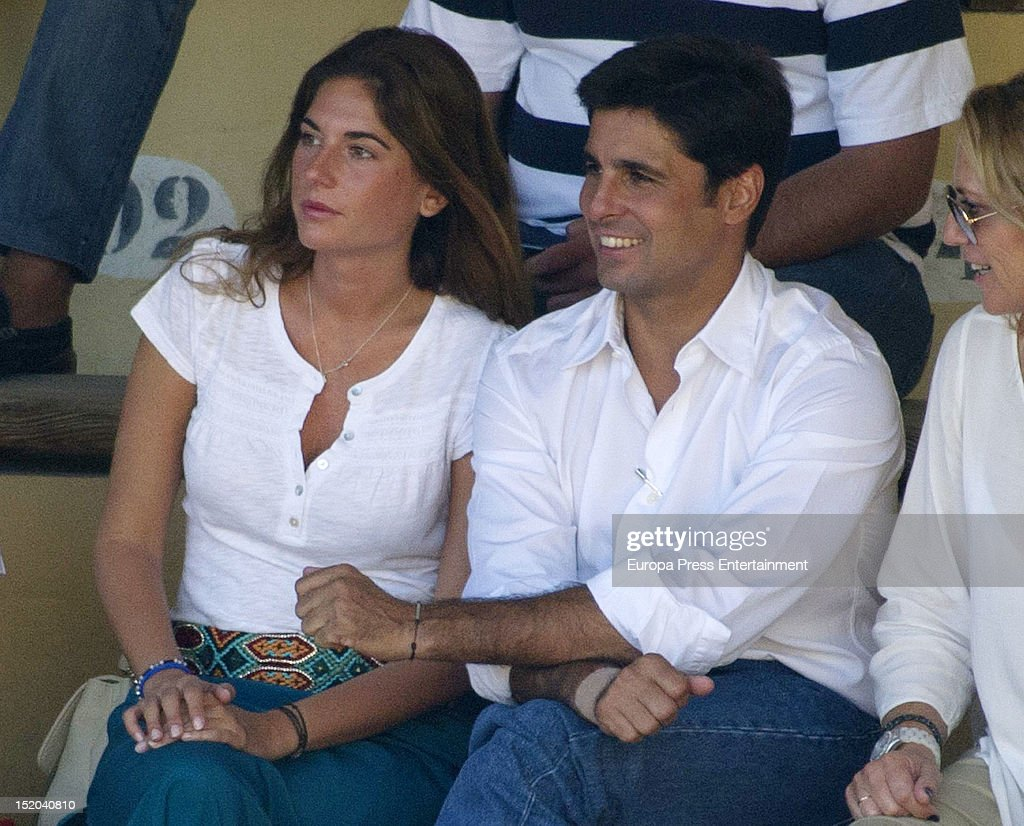 Francisco Rivera and Lourdes Montes attend bullfights on September 7, 2012 in Ronda, Spain.