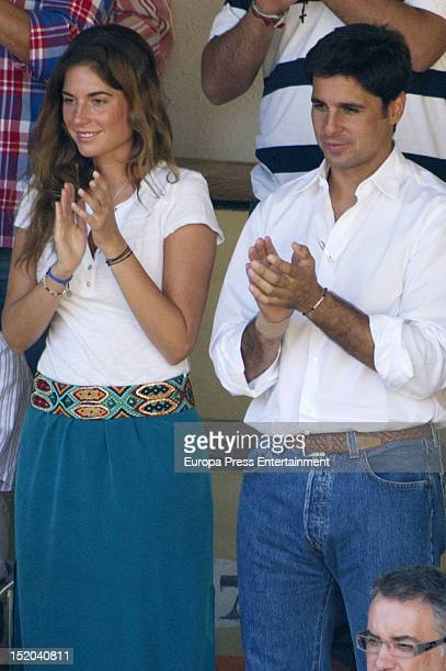 Francisco Rivera and Lourdes Montes attend bullfights on September 7 2012 in Ronda Spain