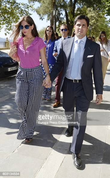 Francisco Rivera and Lourdes Montes attend Goyesca Bullfights on September 10 2016 in Ronda Spain The bullfight events linked to The Feria Goyesca...