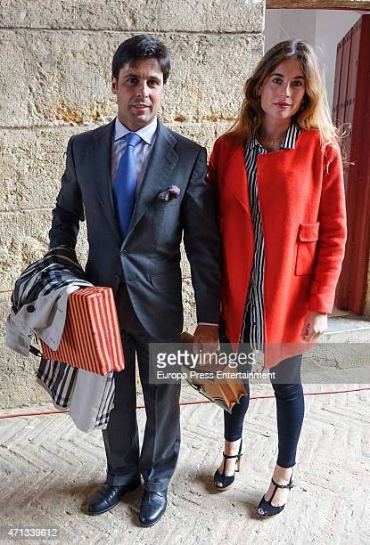 Francisco Rivera and Lourdes Montes attend the bullfighting at April's Fair on April 25 2015 in Seville Spain