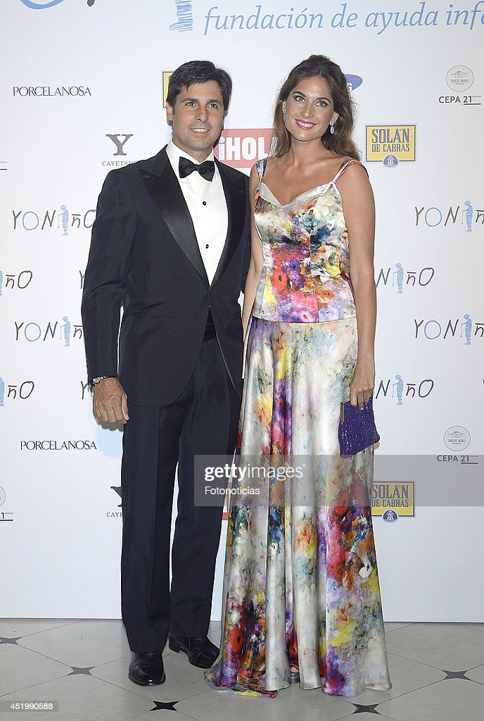 Francisco Rivera and Lourdes Montes attend Yo Nino Foundation benefit dinner on July 10 2014 in Madrid Spain