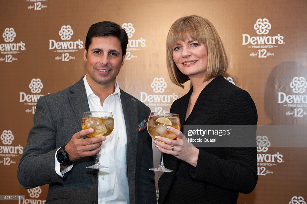 Francisco Rivera and master blender Stephanie Mc Leod present Dewar's 12 on January 28 2016 in Seville Spain