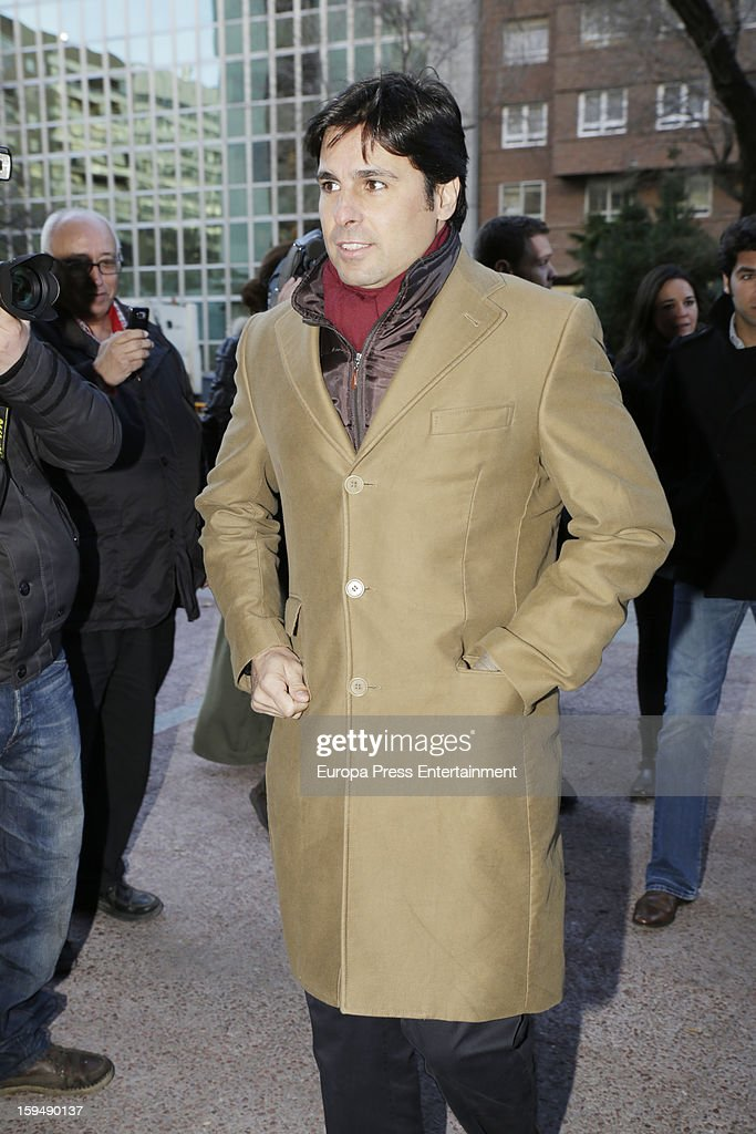 Francisco Rivera attends court on January 14, 2013 in Madrid, Spain. The bullfighter Francisco Rivera and ex wife Duchess of Montoro Eugenia Martinez de Irujo are fighting for the custody of their daughter.