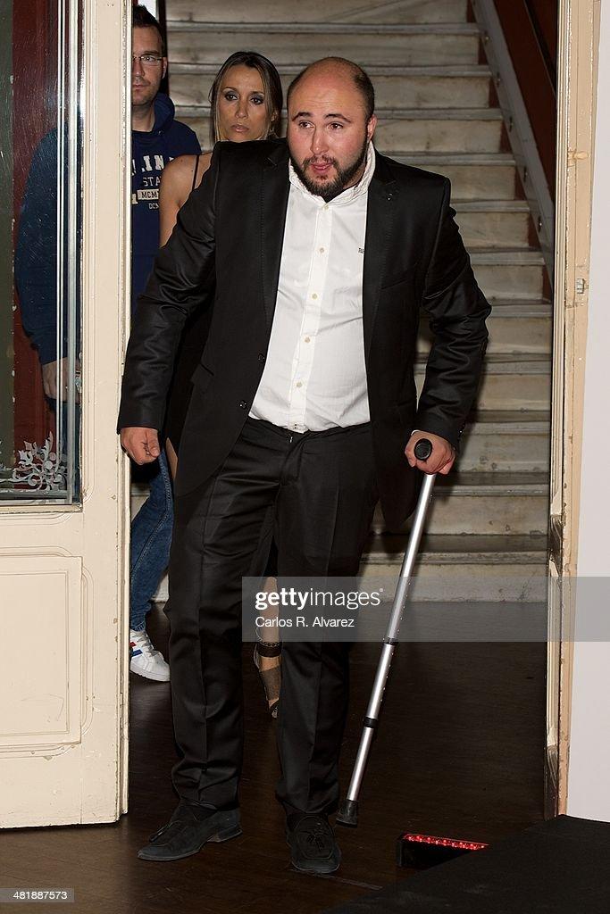 Francisco Rivera 'Kiko' Rivera attends 'El Roast De Santiago Segura. Amiguetes Los Justos' photocall at the Calderon Teather on April 1, 2014 in Madrid, Spain.