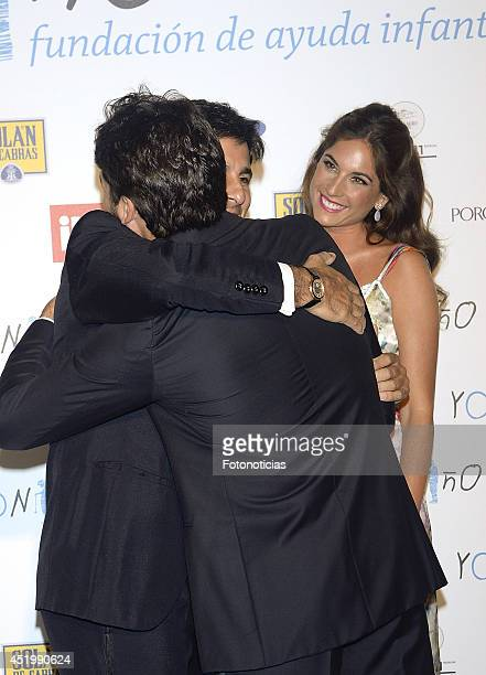 Francisco Rivera Lourdes Montes and Cayetano Rivera attend Yo Nino Foundation benefit dinner on July 10 2014 in Madrid Spain