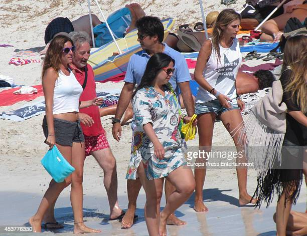 Francisco Rivera Lourdes Montes and Sibi Montes are seen on July 30 2014 in Formentera Spain