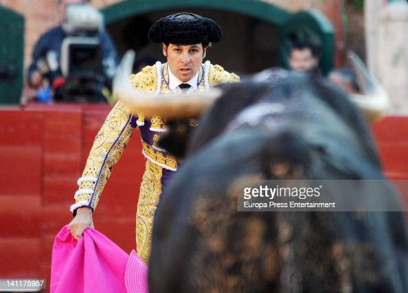 Francisco Rivera performs during a bullfight at Valencia bullring on March 11 2012 in Valencia Spain