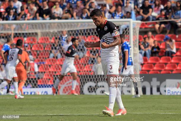 Francisco Rodriguez of Lobos BUAP celebrates during the 2nd round match between Queretaro and Lobos BUAP as part of the Apertura Tournament 2017...