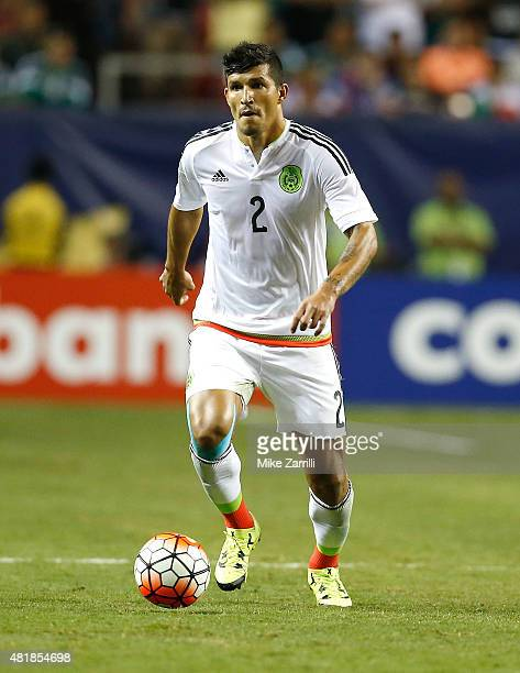 Francisco Rodriguez of Mexico dribbles during the 2015 CONCACAF Gold Cup semifinal match against Panama at Georgia Dome on July 22 2015 in Atlanta...