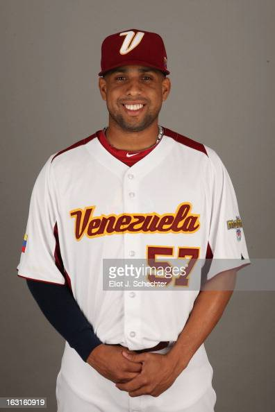Francisco Rodriguez of Team Venezuela poses for a headshot for the 2013 World Baseball Classic at Roger Dean Stadium on Monday March 4 2013 in...
