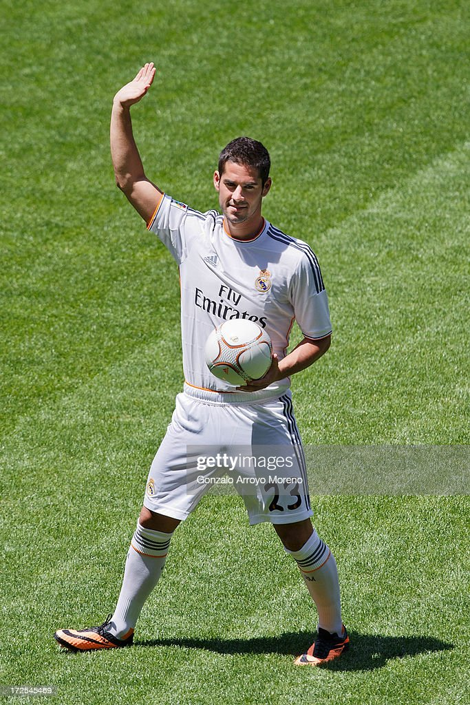 Francisco Roman Alarcon alias Isco during his presentation as a new Real madrid player at Estadio Bernabeu on July 3, 2013 in Madrid, Spain.