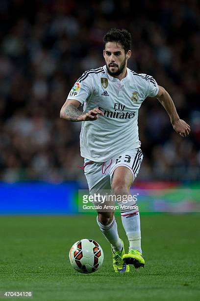 Francisco Roman Alarcon alias Isco of Real Madrid CF controls the ball during the La Liga match between Real Madrid CF and Malaga CF at Estadio...