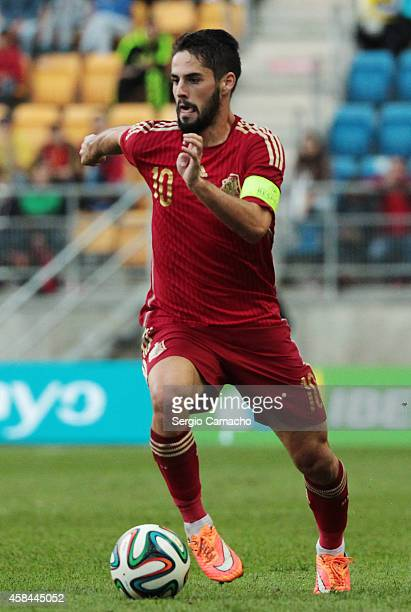 Francisco Roman Alarcon alias 'Isco' of Spain runs with the ball during the UEFA European Under21 Championship playoff second leg match between Spain...