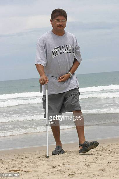 Francisco Ruiz walks the beach in Tampico Mexico He was partly paralyzed and brain damaged when he fell 30 feet at a construction site near Charlotte...
