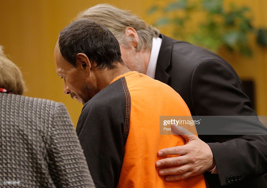 Francisco Sanchez looks on during an arraignment on July 7, 2015 in San Francisco, California. Francisco Sanchez pleaded not guilty to charges that he shot and killed 32 year-old Kathryn Steinle as she walked on Pier 14 in San Francisco with her father last week.