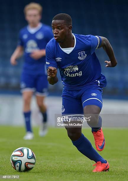 Francisco Santos Da Silva junior of Everton during the Glenavon v Everton u21 friendly game at Mourneview Park on July 18 2015 in Lurgan Northern...