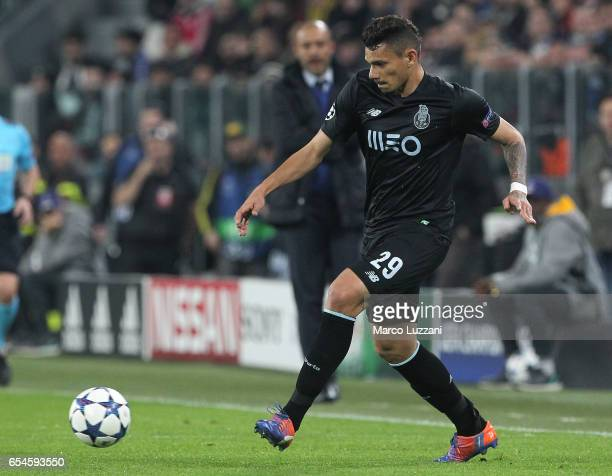 Francisco Soares of FC Porto in action during the UEFA Champions League Round of 16 second leg match between Juventus and FC Porto at Juventus...