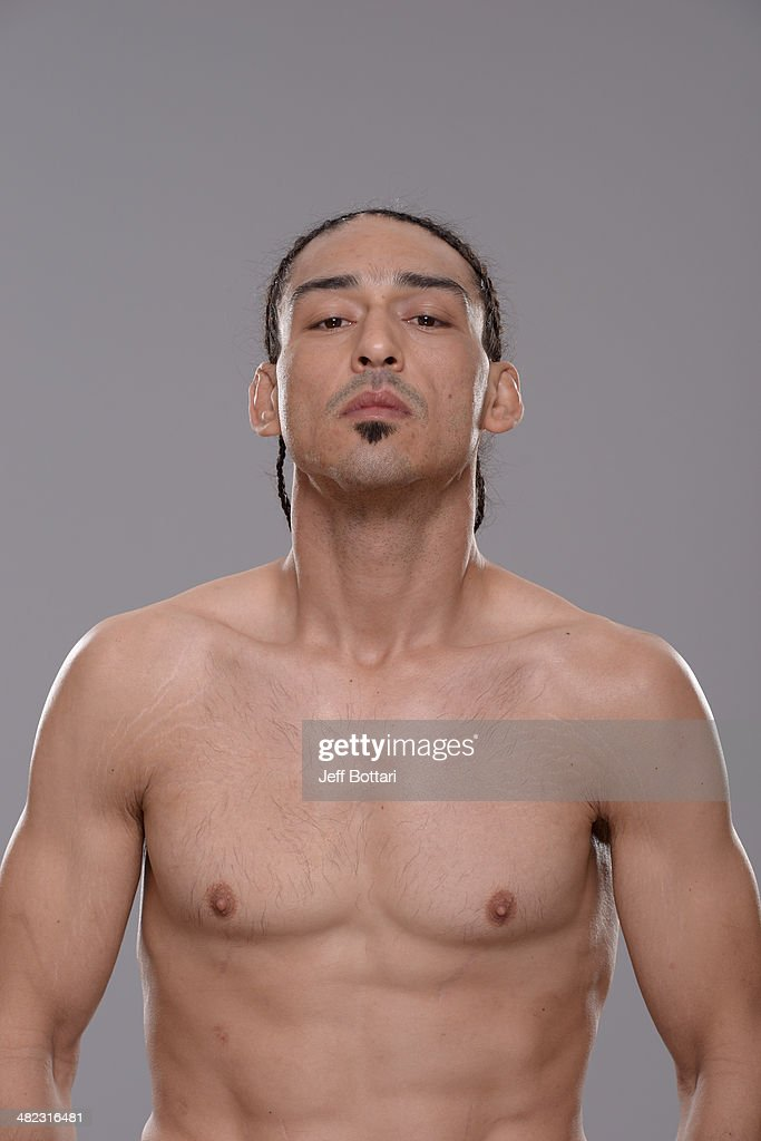 Francisco Trevino poses for a portrait during a UFC photo session on March 12 2014 in Dallas Texas